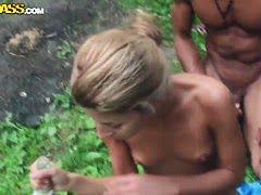 Парочка клиента шпарятся в парикмахерской с телкой
