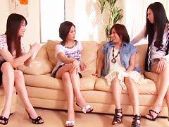 Студенческая пати на хате японской подружки